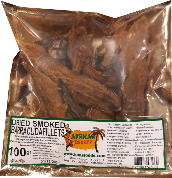 Dried Smoked Barracuda Fillets 100 g