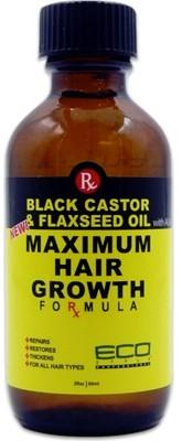 Eco Black Castor and Flaxseed Oil  Maximum Hair Growth 118 ml