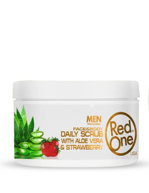 Redone Face and Body Men Daily Scrub Aloe Vera Strawberry 450 ml