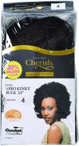 Cherish Afro Kinky Bulk 24 inch colour 4