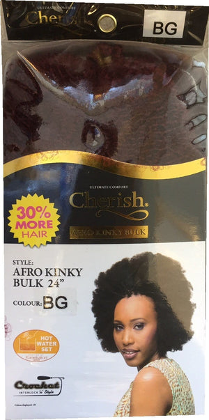 Cherish Afro Kinky Bulk 24 Colour BG
