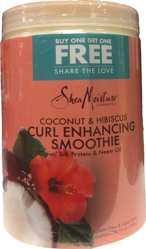 Shea Moisture Coconut and Hibiscus Curl Enhancing Smoothie Double Pack