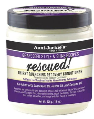 Aunt Jackie's Grapeseed Style and Shine Recipes Rescued Conditioner 426 g