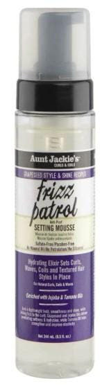 Aunt Jackie's Grapeseed Style & Shine Recipes FRIZZ PATROL Anti-Poof Twist & Curl Setting Mousse 244 ml