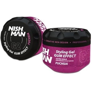 NISHMAN Gum Effect Hair Styling Gel Fuchsia 300 ml