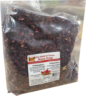 African Beauty Red Hibiscus Flowers 500 g