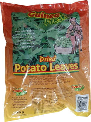 Guinea Fresh Dried Naturel Potato Leaves 80 g