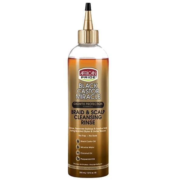 African Pride Black Castor Miracle Braid and Scalp Cleansing Rinse 355 ml