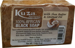 African Black Soap - Kuza Naturals African Black Soap Shea Butter Coconut Oil 114 g