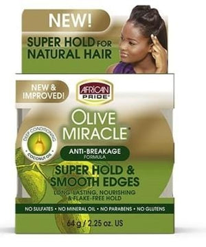 African Pride Olive Miracle Sliky Smooth Edges 64g