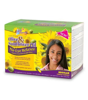 Sofn'Free N'Pretty Olive & Sunflower Relaxer Kit Regular