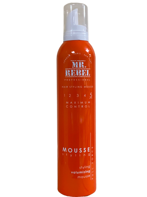 Mr. Rebel Maximum Control 5 Styling Volumizing Mousse 250 ml - Africa Products Shop