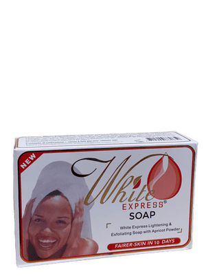 White Express Express Lightening Exfolianting Apricot Powder Soap  200 g - Africa Products Shop