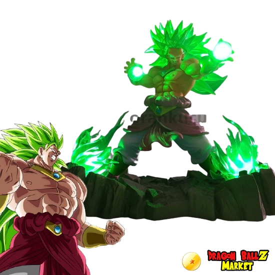 Broly Super Saiyan cheveux long figurine 17 cm