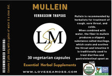 Load image into Gallery viewer, Mullein Capsules - Love Sea Moss