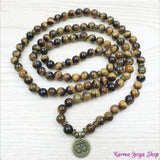 "Mala Bracciale ""om"" 108 perline Tiger Eye"