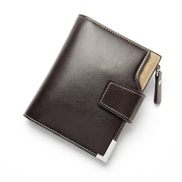 Short Clutch Leather Wallet