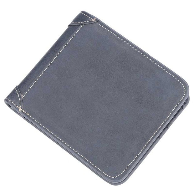 Vintage Short Slim Leather Wallet