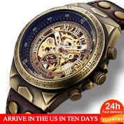 Men's Leather Mechanical Watch