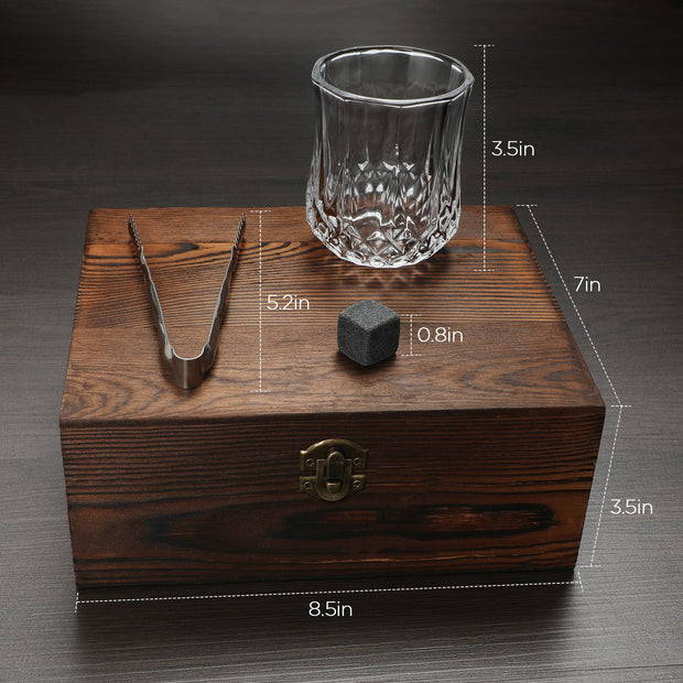 Whiskey Stones and Whiskey Glass Set
