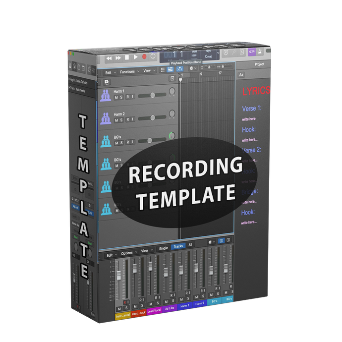 Recording template for logic pro x