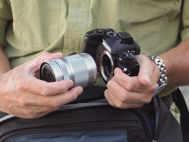 Camera bags for Mirrorless systems including Sony, Fuji, and
