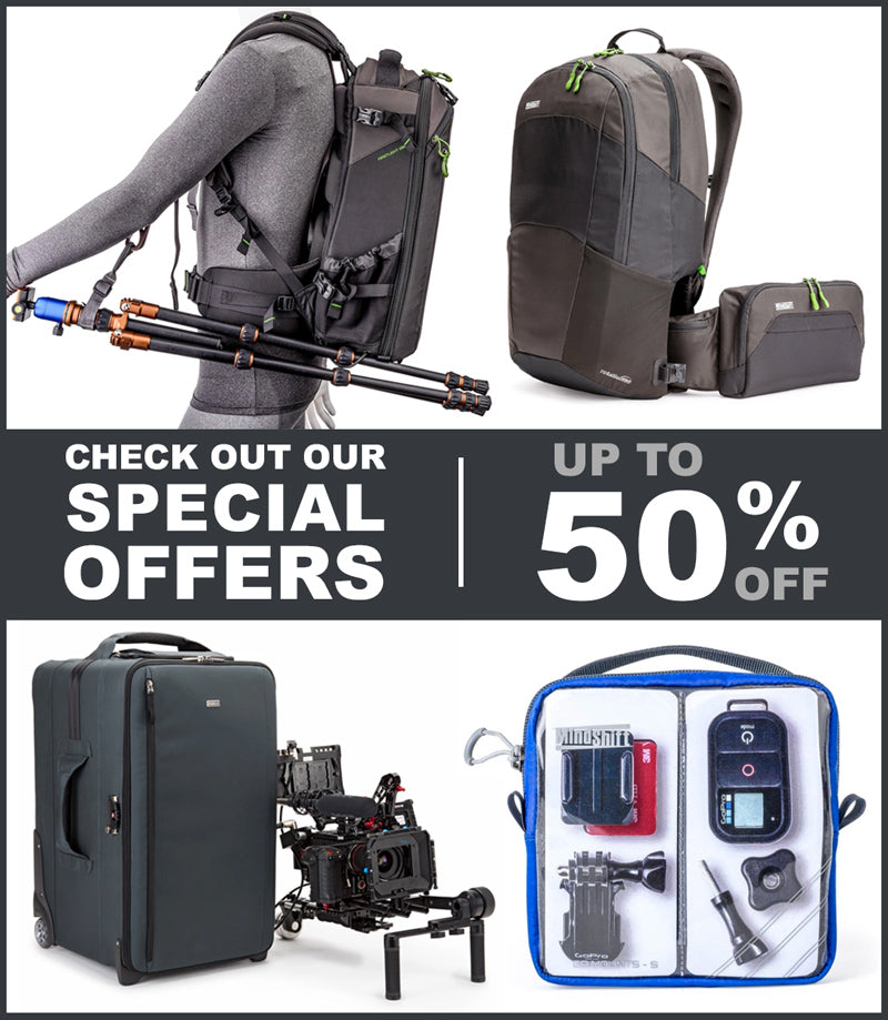 Think Tank Photo and MindShift Gear special offers.