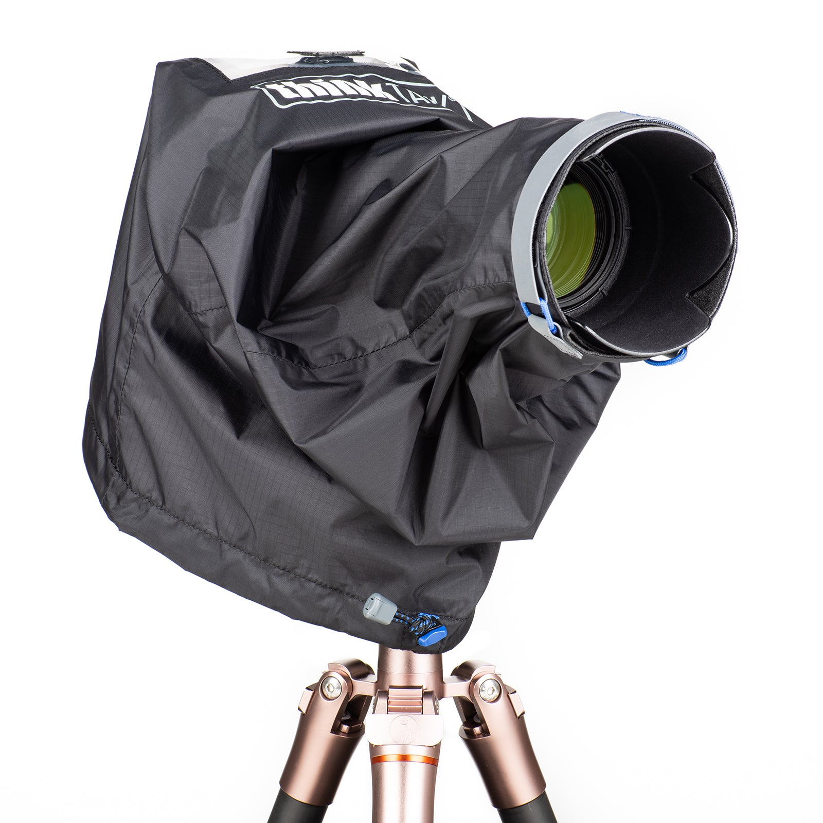 Mountable to tripod or monopod