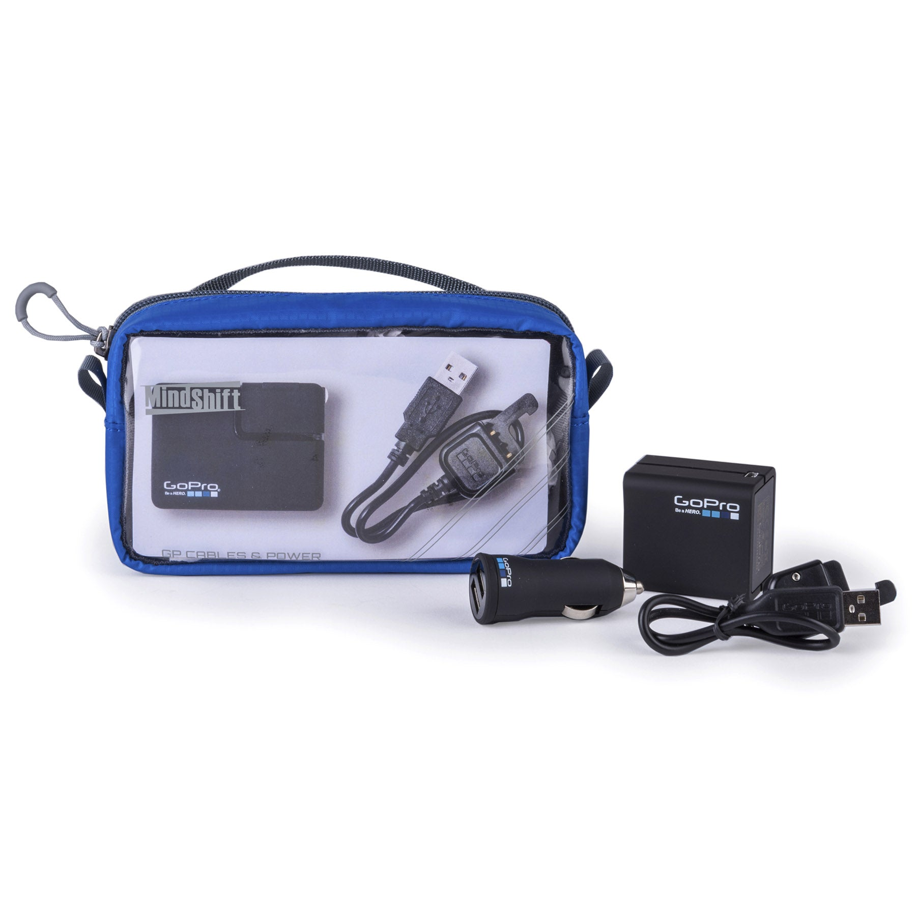Your go to bag for GoPro® charging and attachment cables.