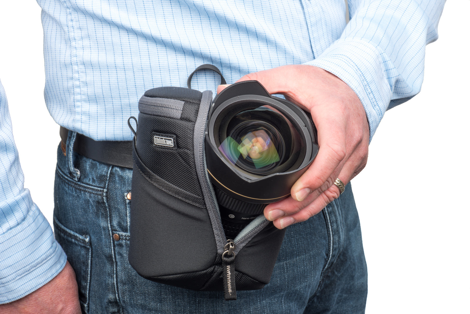 Lens Case Duo 20 Protective For Dslr And Mirrorless Lenses Leather Denim Strap Kamera Dlsr Slr Canon Fujifilm Sony