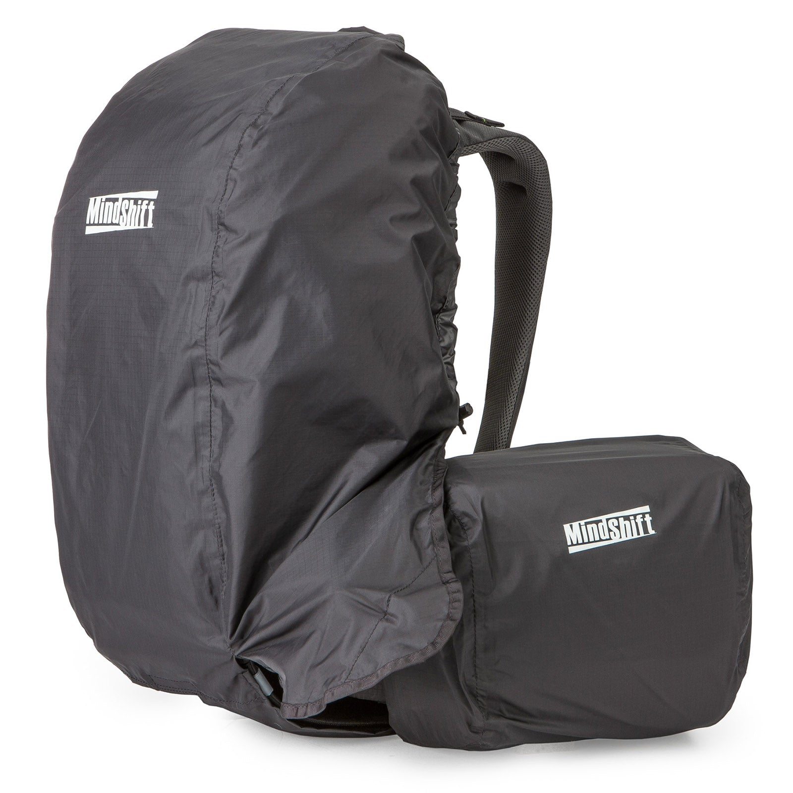 Includes separate rain covers for the backpack and beltpack