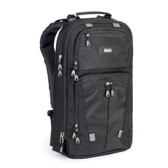 "Holds a full assortment of photo gear, tripod, 15"" or 17"" laptop and a full size tablet"
