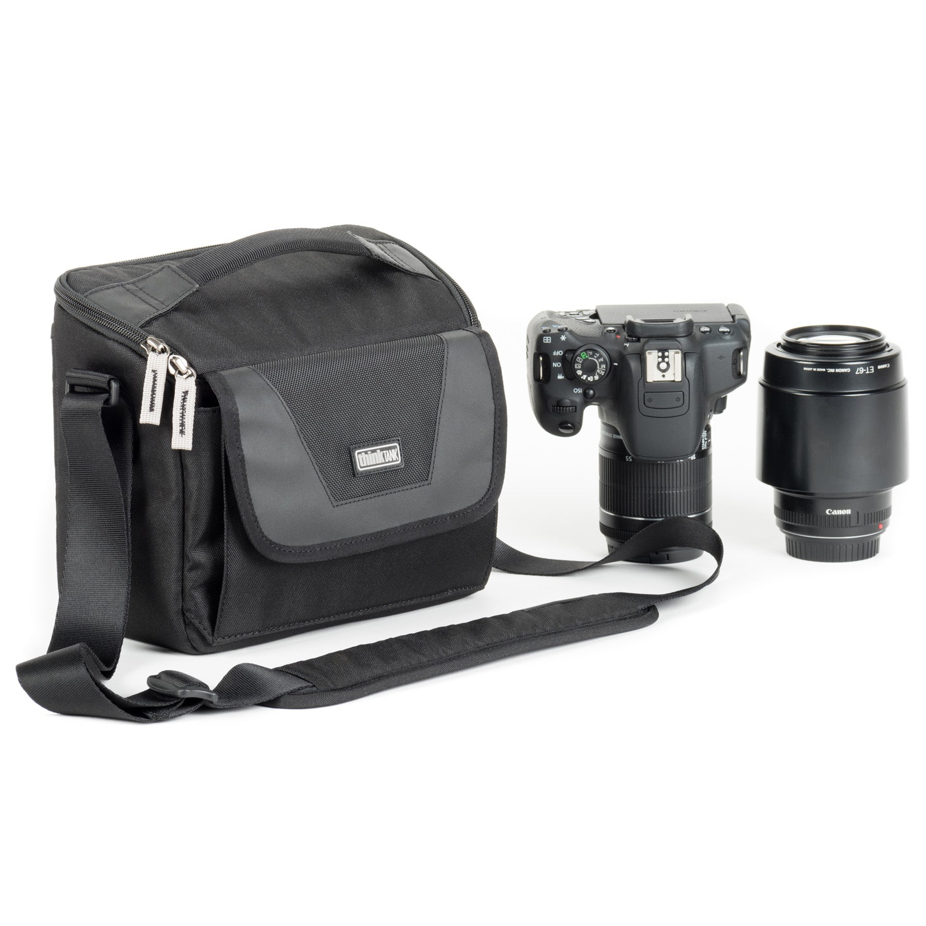 The StoryTeller shoulder bags fit both DSLR and Mirrorless bodies and lenses, and feature a fliptop lid for quick access.