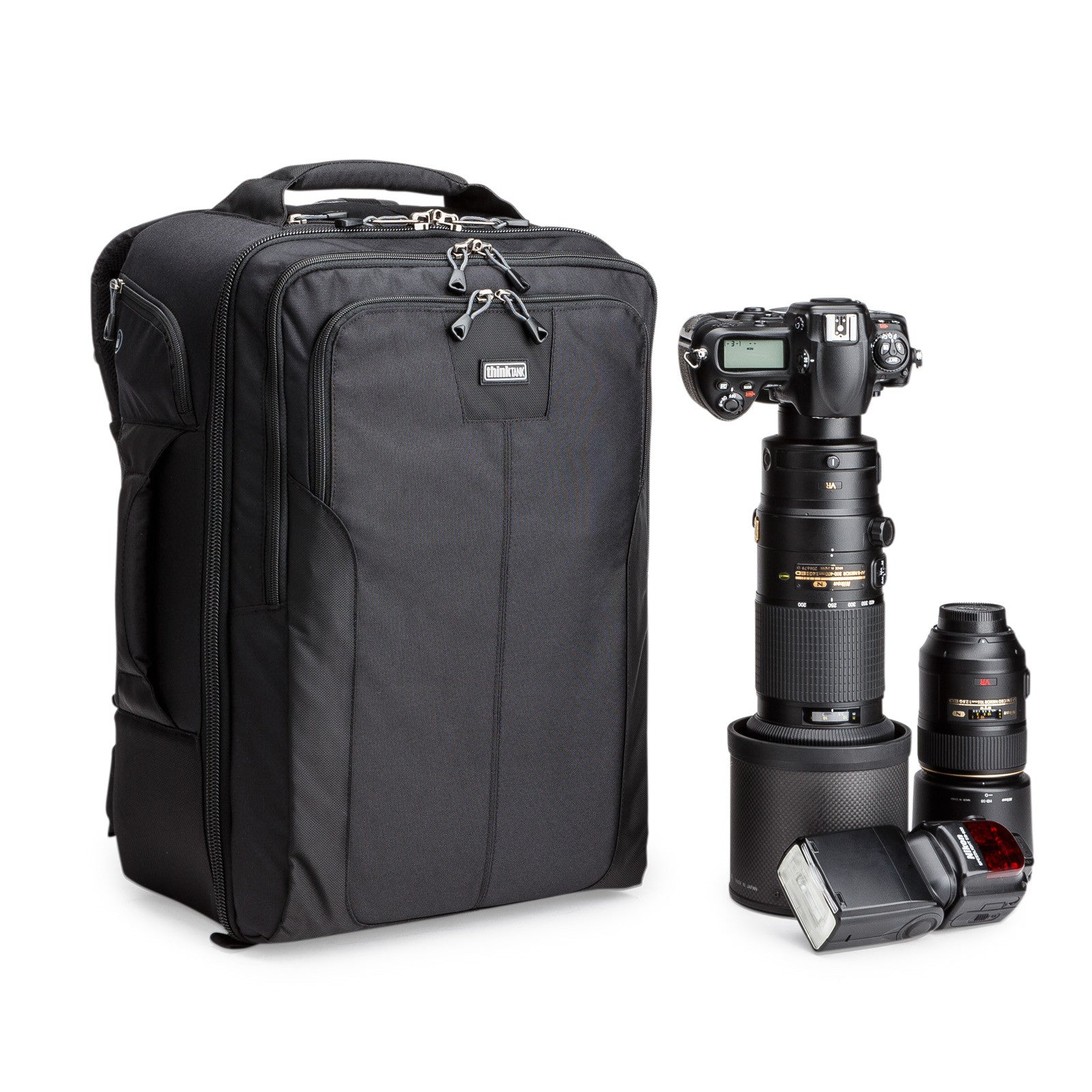 The Airport Accelerator - Our largest carry-on backpack, holds a 600mm f/4 detached from a gripped body