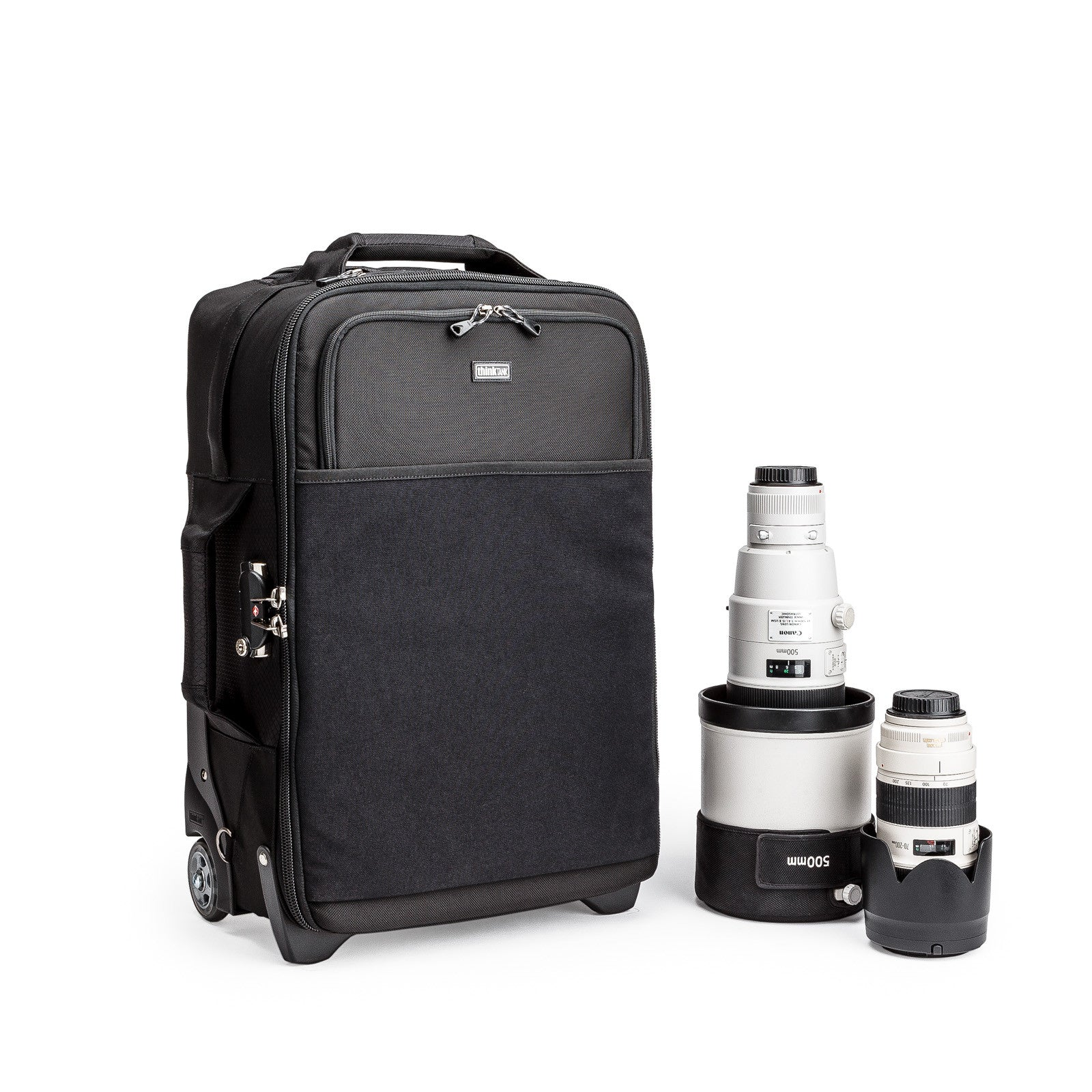 Airport Security Rolling Camera Bags For Airlines Think