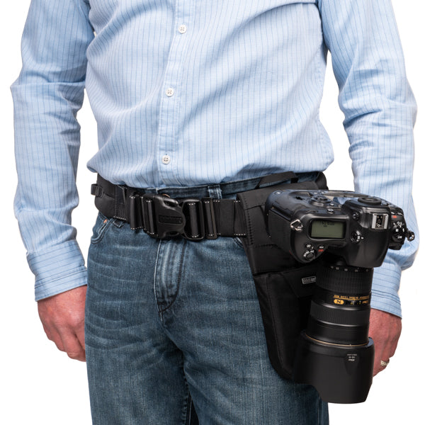 Belt attachment for the Peak Design Capture Clip or SpiderLight camera clip. Allows the clip to rotate on any Think Tank belt for better workflow.