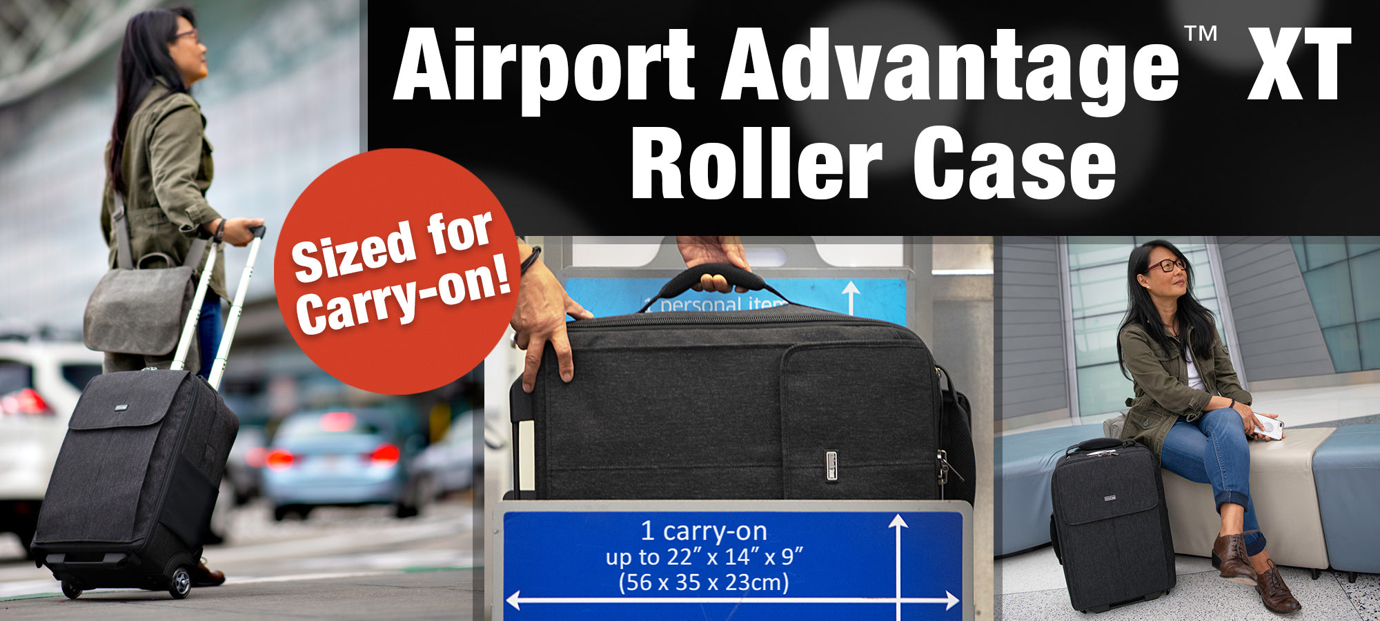The Airport Advantage XT - Weighing only 7.5 lbs. (3.4kg), the Airport Advantage XT rolling camera case meets increasingly restrictive International airline requirements