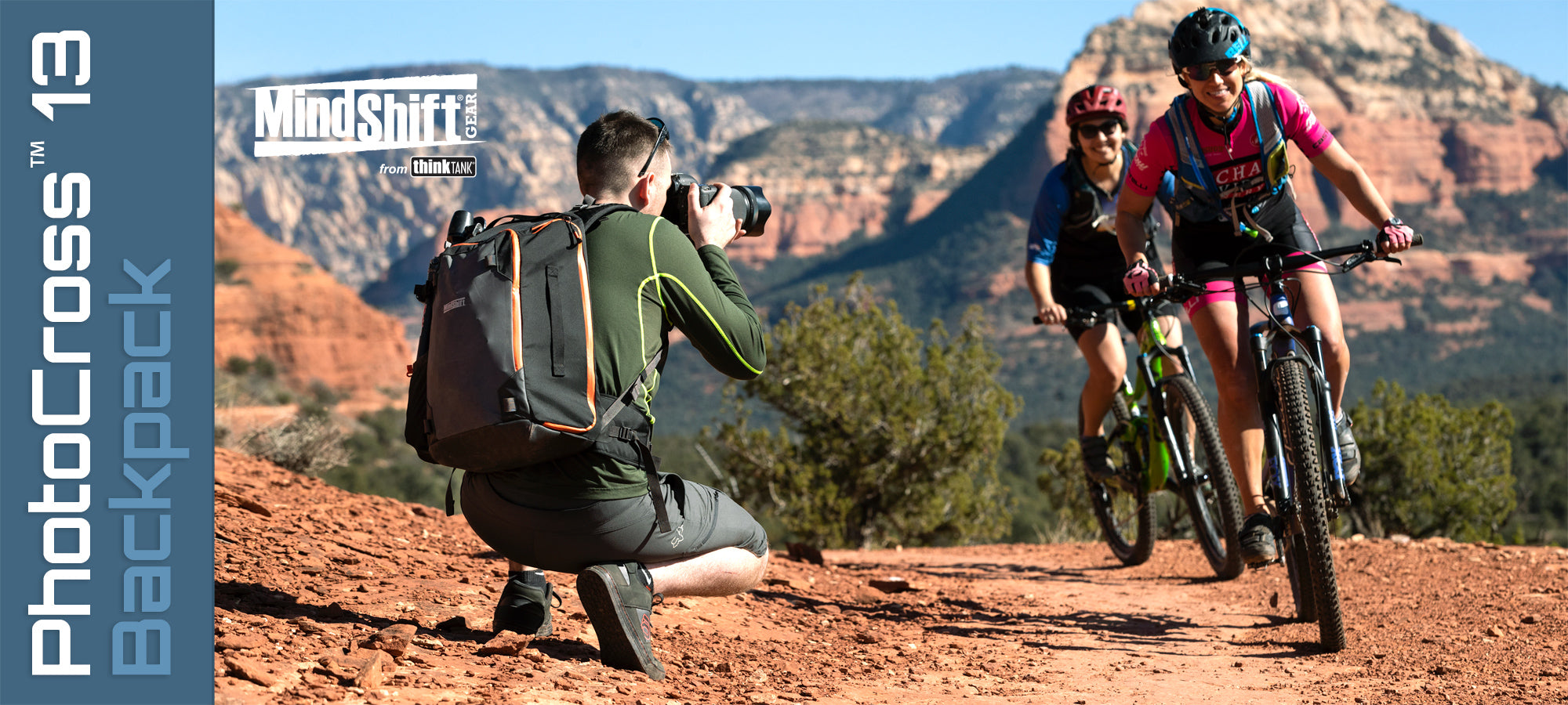 MindShift PhotoCross 13 backpack - Adventure photographers need a camera bag that's as tough as they are.