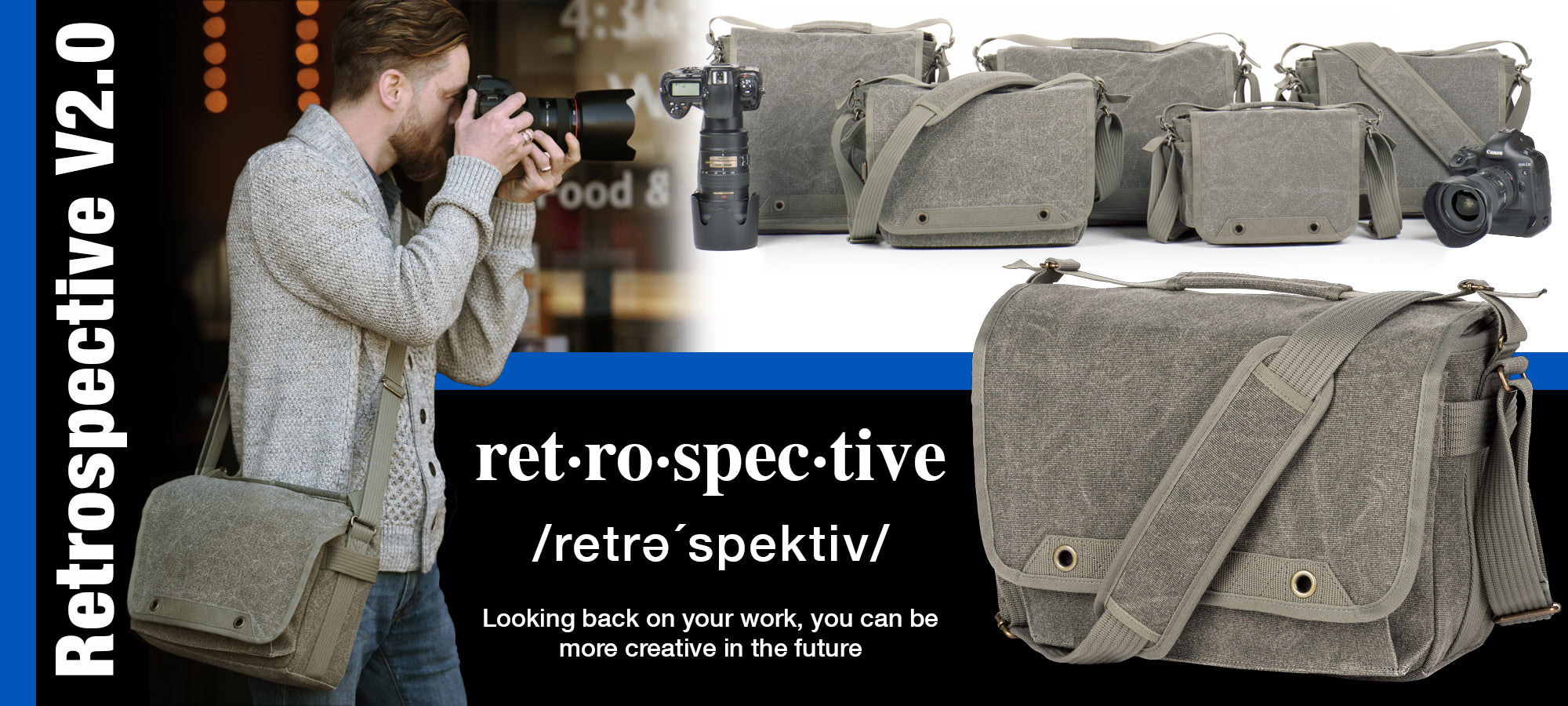 The Retrospective V2.0 series shoulder bags retain that classic look but include many innovative new features.