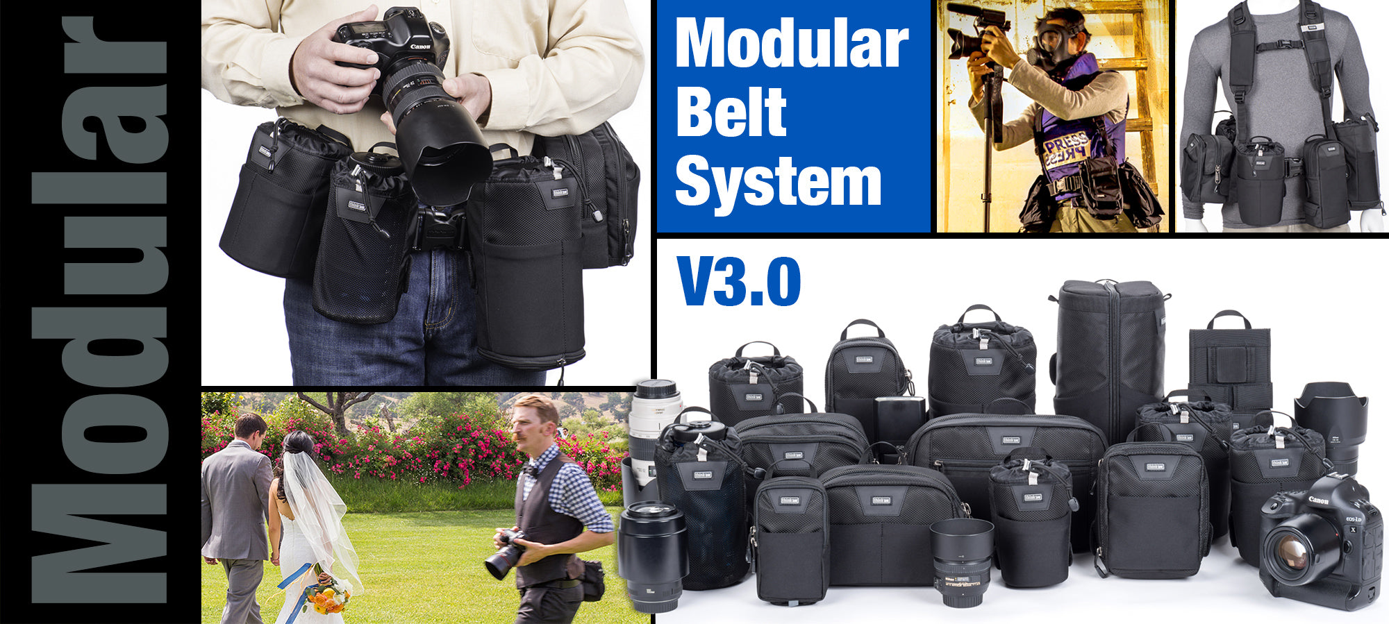 The Modular Belt System moves weight from your shoulders to your waist for more comfortable all-day carry