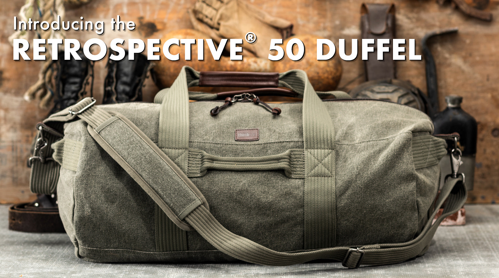The Retrospective Duffel 50 is the perfect back road traveling companion.