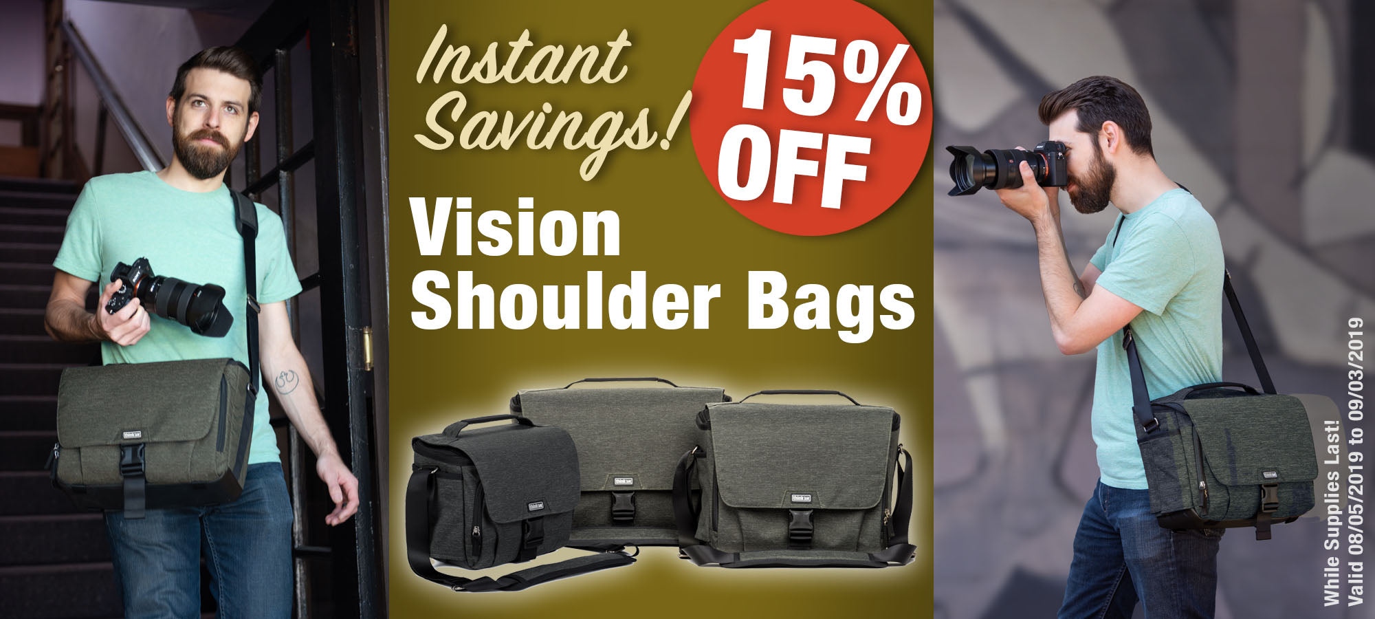 15% off Vision Shoulder Bags!