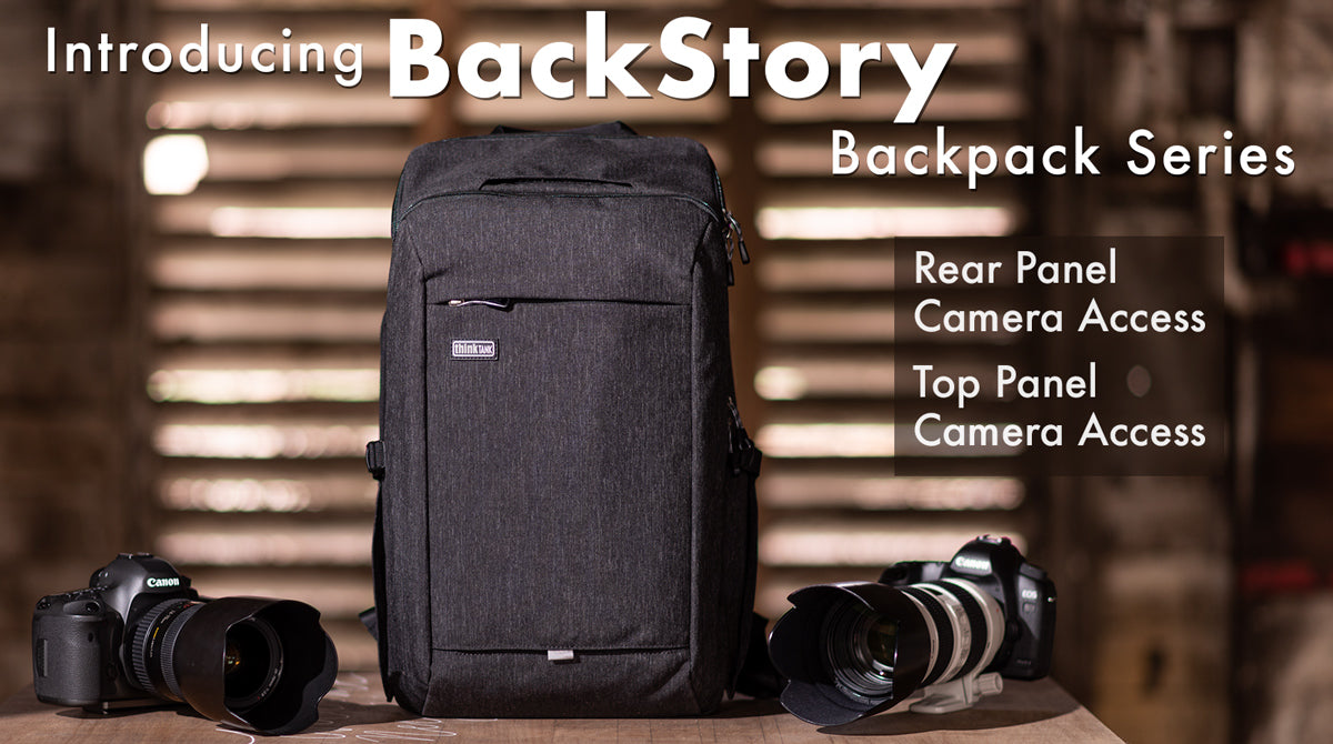 The BackStory's rear-panel opening offers complete access to your gear while a top panel provides quick access to your camera and speeds your workflow.