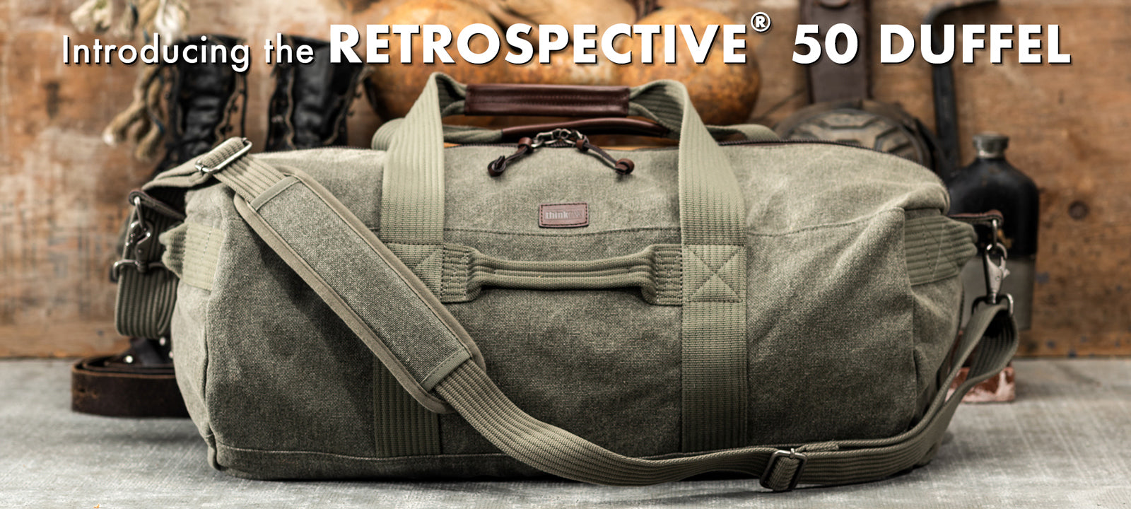The Retrospective 50 Duffel is the perfect back road traveling companion.