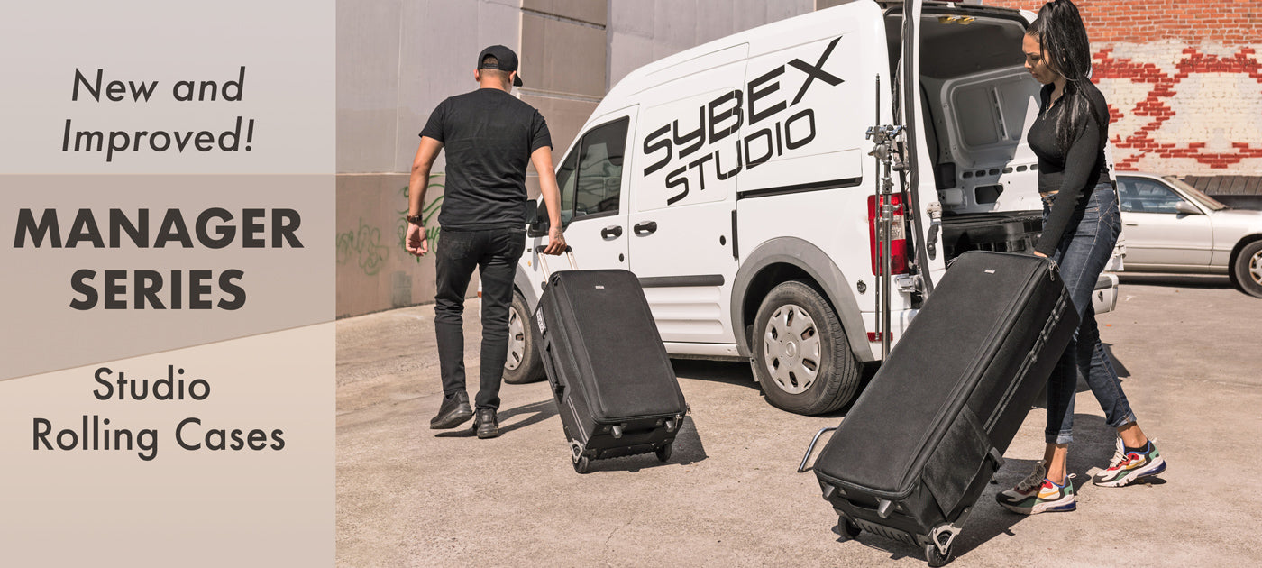 High-capacity rolling cases designed to safely transport a large amount of photo and video equipment.