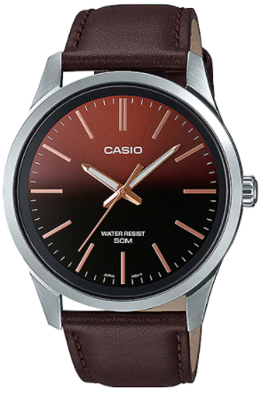 Casio Watch for Men MTP-E180L-5AVDF leather band