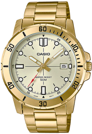 Casio Enticer Analog Gold Dial Men's Watch - MTP-VD01G-9EVUDF