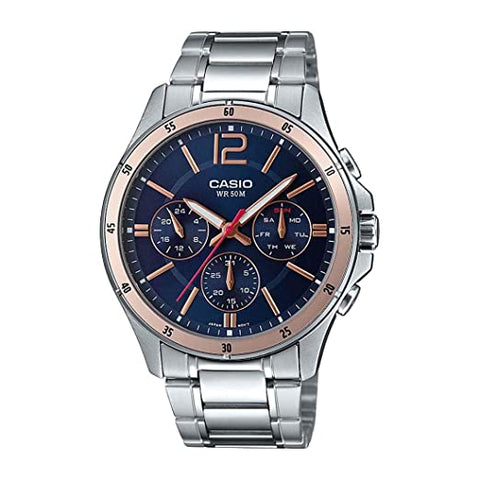 Casio Analog Blue Dial Men's Watch-MTP-1374D-2A2VDF (A1745)