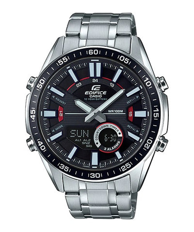 Casio Edifice Analog-Digital Black Dial Men's Watch-EFV-C100D-1AVDF (EX438)