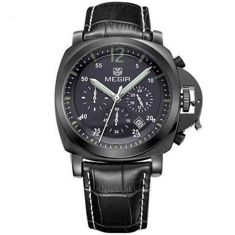 MEGIR 3006 G BK-1 Mens Military wristwatch